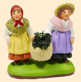 COUPLE OF CHILDREN w. BASKET OF OLIVES